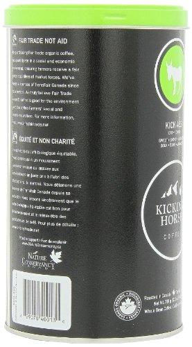 Kicking Horse Whole Bean Coffee, Kick Ass Dark Roast, 12.3-Ounce Tins (Pack of 2)