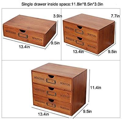 WGX The Industrial wooden storage drawer Household Essentials Wooden Storage Chest Box Office Desktop Organizer New Zealand Pine