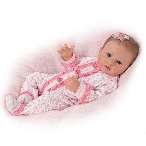 Katie Breathes, Coos and has a Heartbeat - So Truly Real® Lifelike, Interactive & Realistic Weighted Newborn Baby Doll 19-inches  by The Ashton-Drake Galleries by The Ashton-Drake Galleries