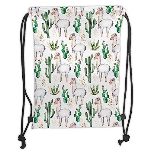 New Fashion Gym Drawstring Backpacks Bags,Cactus Decor,Hot South