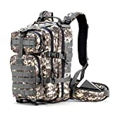 Gelindo Military Tactical Backpack, Hydration backpack, Army Assault Pack Molle Bag for Outdoor Hiking Camping, 35L