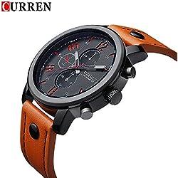 Quartz-Watch CURREN Men's Sport watches Top Brand Luxury Men Watches Fashion Man Wristwatches Leather Strap Relogio Masculino