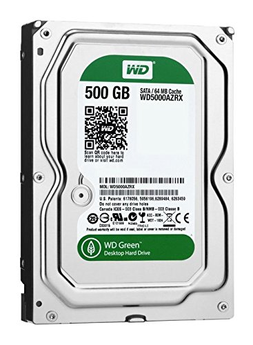(Old Model) WD Green 500GB Desktop Hard Drive: 3.5-inch, SATA 6 Gb/s, IntelliPower, 64MB Cache WD5000AZRX -