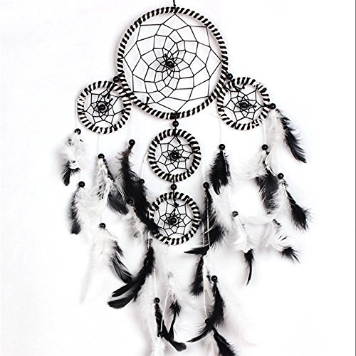 1 Sets Feathers Dream Catcher Ornament Mini Arts Craft Rainbow Owl Hanging Nursery Bedding Room Supreme Popular Dreamcatchers Kids Bedroom Decorations Large Yin Yang Car Wall Catchers - Hanging Supreme