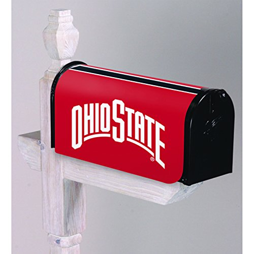 Evergreen NCAA Ohio State Buckeyes Mailbox Cover, Team Colors, One Size (Osu Buckeyes Cover)