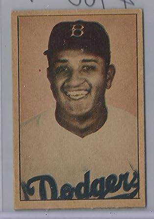 Amazoncom 1952 Berk Ross Don Newcombe Baseball Card Near
