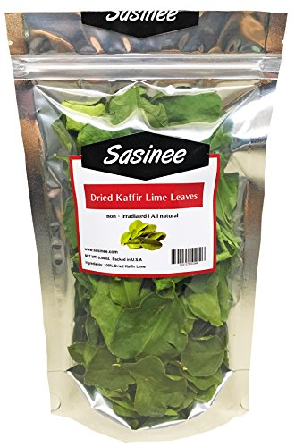 sasinee Dried Kaffir Lime Leaves Organic,Use in for Thai/Asian Cuisine