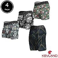 Cuecas Kevland - Kit Com 3 Peças boxer + 1 Long Leg com ESTAMPAS SORTIDAS