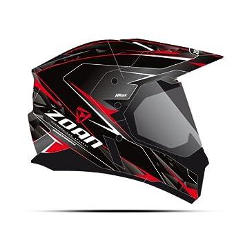 Zoan sincronía duo-sport Hawk negro rojo eléctrico lente aventura nieve casco grande