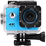 Sandsitore 4K Sport Action Camera 16MP WIFI Waterproof Camera 2inch LCD Screen 170 Ultra Wide-Angle Lens Underwater Camcorder And Full Accessories Kits (Blue)