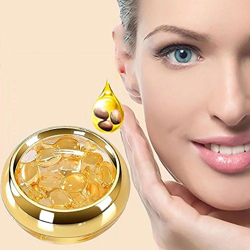 Eye Serum Capsules with Hyaluronic Acid Squalane Collagen, Pawaca Eye Cream for Anti-aging Moisturize Lines Wrinkles Dark Circles Puffiness Eye Bag Remover, 20-Pieces