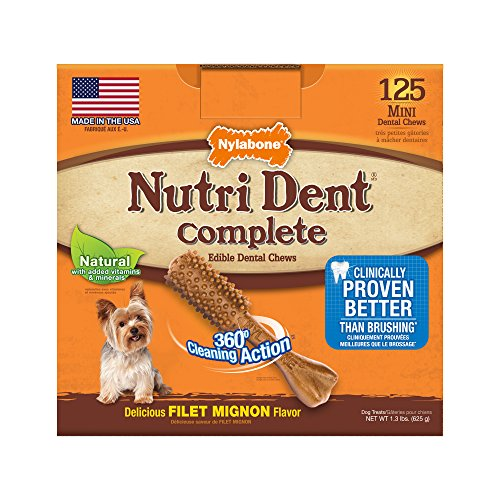 Nylabone Nutri Dent Complete Adult Filet Mignon 125 count