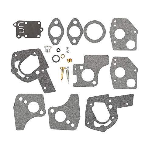 Mannial Carburetor Overhaul Repair Rebuild Kit fit Briggs & Stratton 495606 494624 Pulsa Jet Carb 80200 81200 82200 112200 130200 133200 135200 136200 3 Thru 5 HP Horizontal Engines (Briggs And Stratton 3-5 Hp Carburetor Rebuild)
