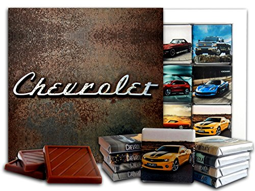 - DA CHOCOLATE Candy Souvenir CHEVROLET Chocolate Gift Set 5x5in 1 box (Vintage Prime)(0621)