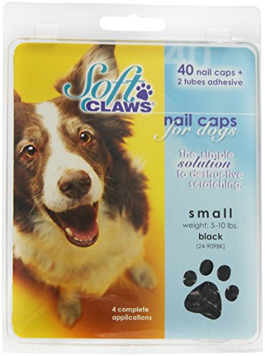Image of Canine Soft Claws Dog and Cat Nail Caps Take Home Kit, Small, Black