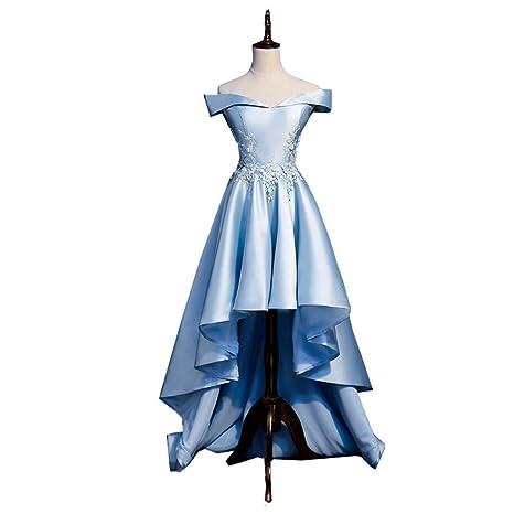 QAQBDBCKL Princesa Azul Claro Vestido Medieval Vestido ...