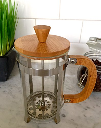 Starizzo French Press Coffee Maker For Home & Work, Travel, Camping, Tea, Cold Brew | Stylish Bamboo, BONUS Measuring Spoon, Compact Size 20oz | 600ml by Starizzo (Image #4)