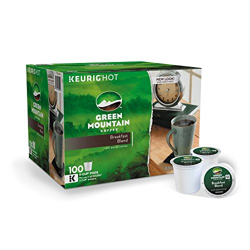 Green Mountain Coffee, Breakfast Blend (100 K-Cups) (pack of 6) by Green Mountain Coffee