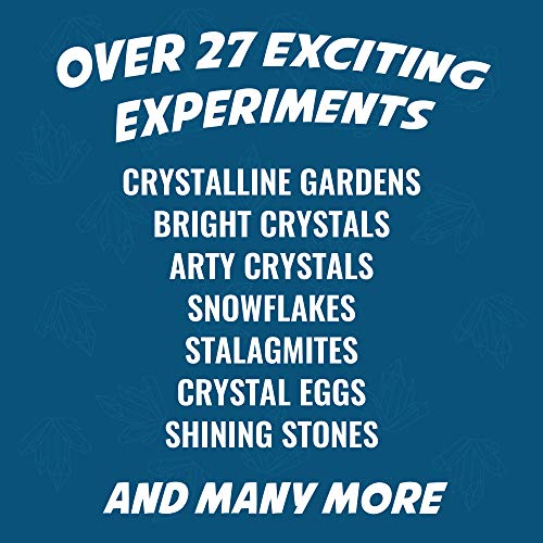 Playz Growing Crystal Creations 27+ Geology & Earth Science Experiments Kit - Make Crystalline Eggs & Starfish, Magical Gardens, Rainbow Flowers, Custom Geodes, & Secret Messages by Playz (Image #2)