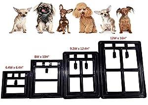 Enjoying Magnetic Door Pet Window Screen Flap Door Doggie Door Cat Flaps With Magnetic Automatic Lock - L