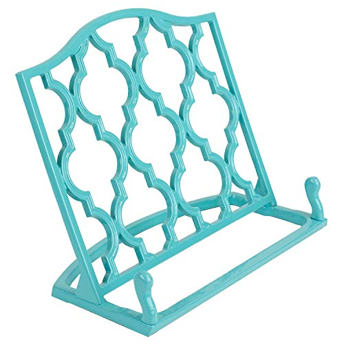 Home Basics Cast Iron Moroccan Lattice Cookbook Stand Holder, 10.5 x 5.5 x 9 Inches ()
