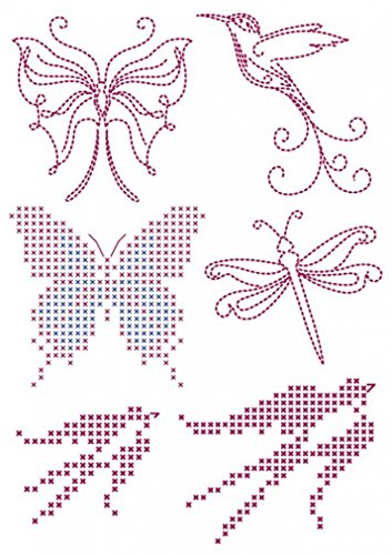 DMC Custom By Me Embroidery Transfer Magic Sheet Butterflies (Embroidery Dmc Transfer)