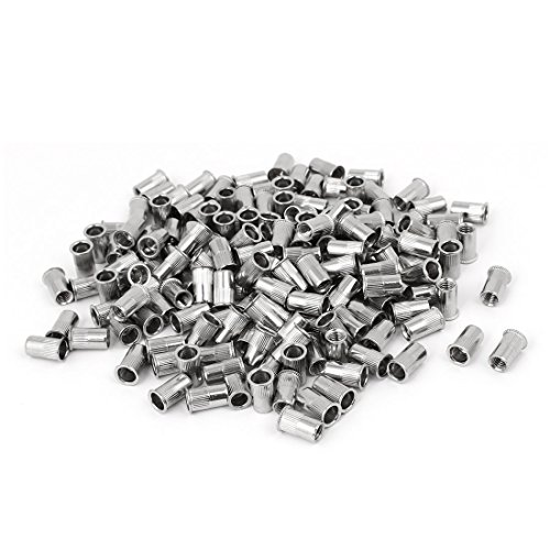 uxcell M5 x 12mm 304 Stainless Steel Countersunk Head Rivet Nut Insert Nutsert 200PCS ()