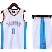 Conjunto de Camiseta de Baloncesto para niños n. ° 0, Equipo Thunder Westbrook 0# Conjunto de Camiseta de Baloncesto…