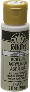 product image for FolkArt Acrylic Paint in Assorted Colors (2 oz), 424, Light Gray