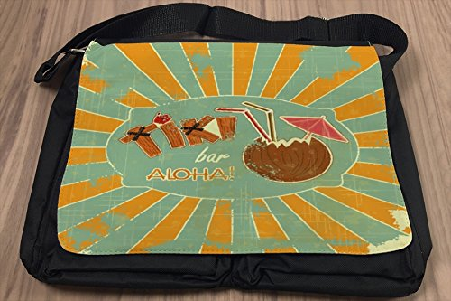 Umhänge Schulter Tasche Weltenbummler Tiki Bar bedruckt