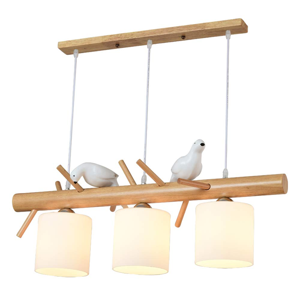 Minmin 純木のシャンデリア - 北欧の鳥のシャンデリアの天井灯、振り子ランプの家の装飾の天井灯の照明ランプ モダンな装飾用シャンデリア B07TJ8NKT7