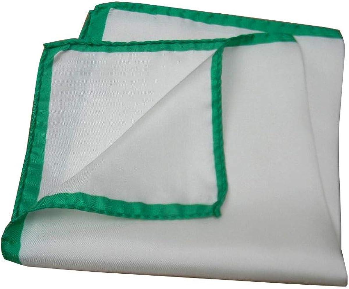 Avantgarde Pochette Uomo da Tasca Bianca Man Handkerchief Seta Silk Bordo Diversi Colori