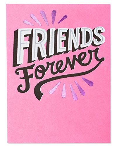 American Greetings Friends Forever Valentine's Day Card with Foil (Valentine Greeting For Best Friend)