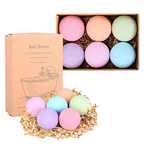 Bath Bombs Gift Set, Etpark 6pcs Natural Essential Oil Bath Bomb Handmade Spa Bomb Fizzy Bath Salt for Moisturizing Dry Skin, Gift for Children/Women/Man/Partner/Family/Friends