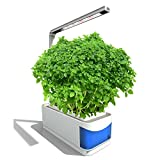 Touyinger Upgraded Indoor Garden Kit, Hydroponics Plant Herb LED Grow Light, 2 Self Watering Gardening Pot