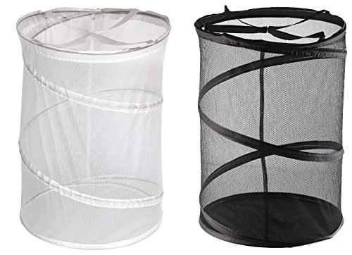 Greenco Heavy Duty High Capacity and Super Lightweight Laundry Hamper (2 Pack), Black/White (Hamper Portable compare prices)