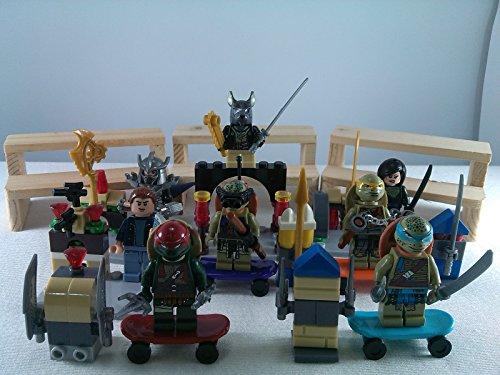 [SUPAK® Teenage Mutant Ninja Turtles TORTOISES MiniFigures Toy Super Heroes Series Action Figure Building Blocks Brikcs Set Compatible] (Gogo Big Hero Six Costume)