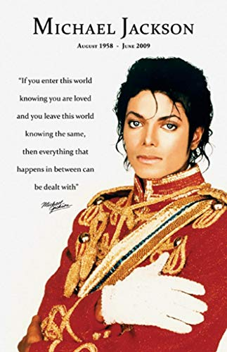 Pyramid America Michael Jackson Loved Quote Music Laminated Dry Erase Sign Poster 12x18