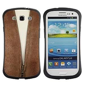 Paccase / Suave TPU GEL Caso Carcasa de Protección Funda para - Cleavage Zipper - Samsung Galaxy S3 I9300