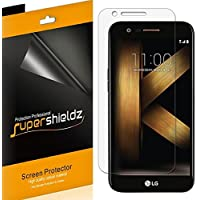 Supershieldz [paquete de 6] para el protector de pantalla LG K20 Plus, Clear Shield de alta definición y anti-burbujas - Garantía de reemplazo de por vida - Empaque para minoristas