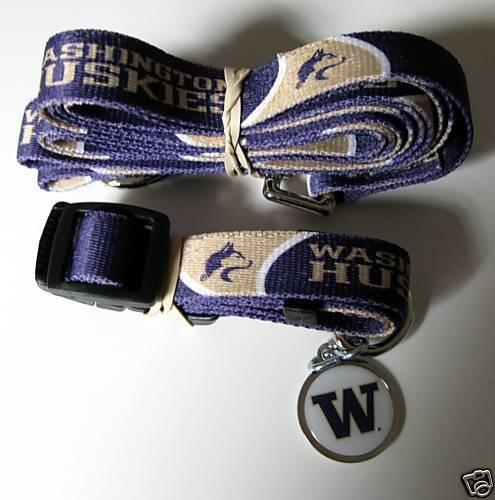 Hunter University of Washington Pet Combo Set (Collar, Lead, ID Tag), X-Small