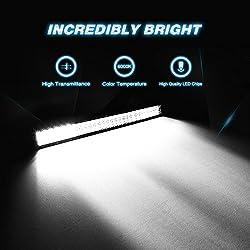 "Nilight 25"" 162W Led Light Bar Flood Spot Com"