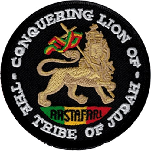 (Conquering Lion of the Tribe of Judah Rastafari Iron Sew On Patch /)