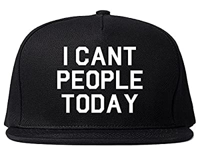 Kings Of NY I Cant People Today Funny Mens Snapback Hat