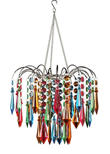 Richland Faceted Waterfall Chandelier, Multi Colored