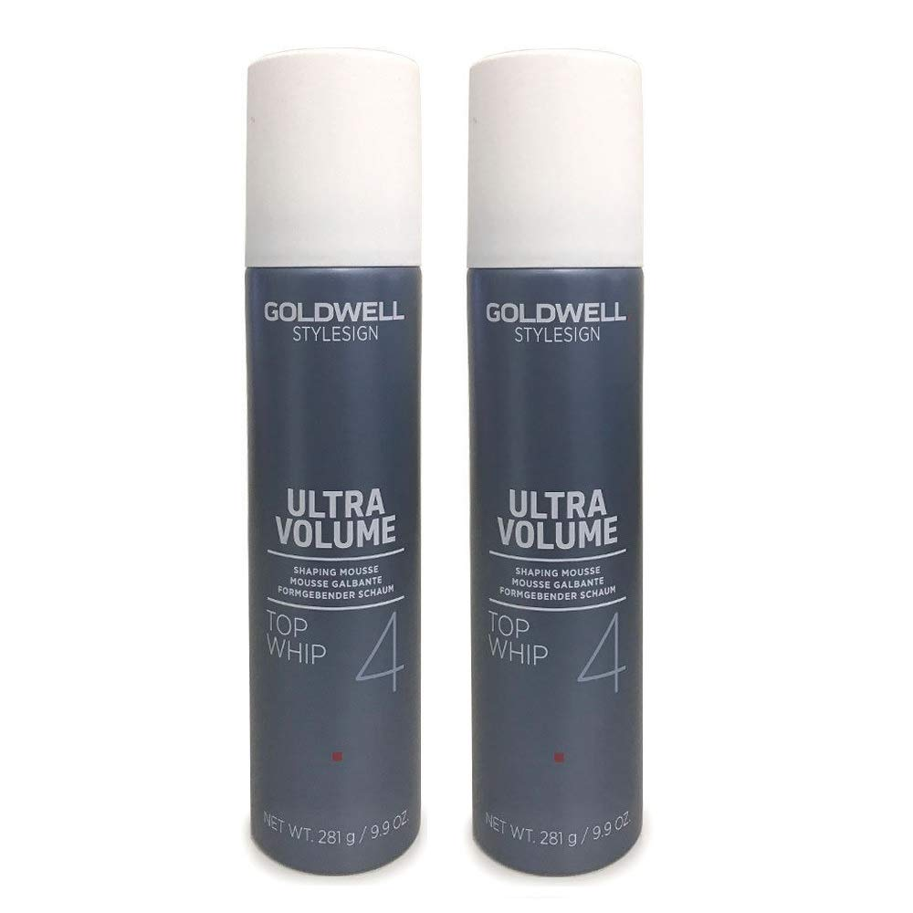 Goldwell StyleSign 4 Ultra Volume Top Whip Shaping Mousse 9.9 Ounce (2 Pack) by Goldwell