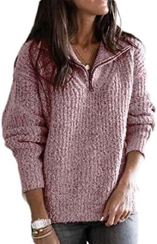 Smallwin Womens Casual Drawstring Zipper Coat Midi Hooded Sweatshirts with Pocket