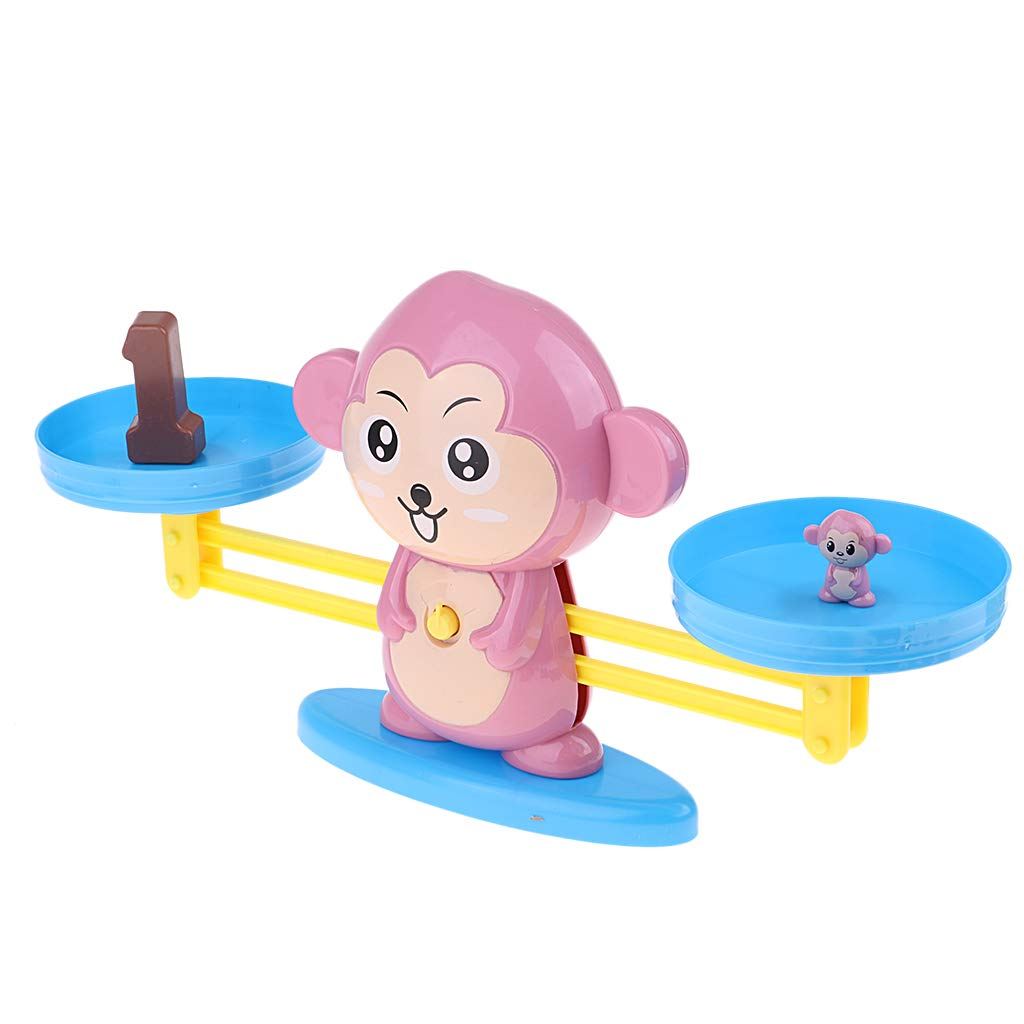 Fityle Math Balancing Scale Number Balance Board Game Monkey Animal Figure Learning /& Education Baby Preschool Math Toys