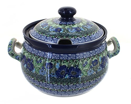 Blue Rose Polish Pottery Sapphire Fields Soup ()