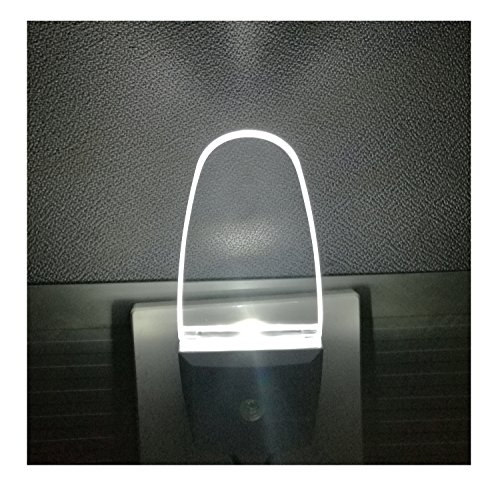 2 Pack Plug in Led Night Light with Dusk to Dawn Sensor, Cool White